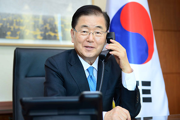 S. Korea-Iran Foreign Ministers Discuss Tanker, Frozen Funds