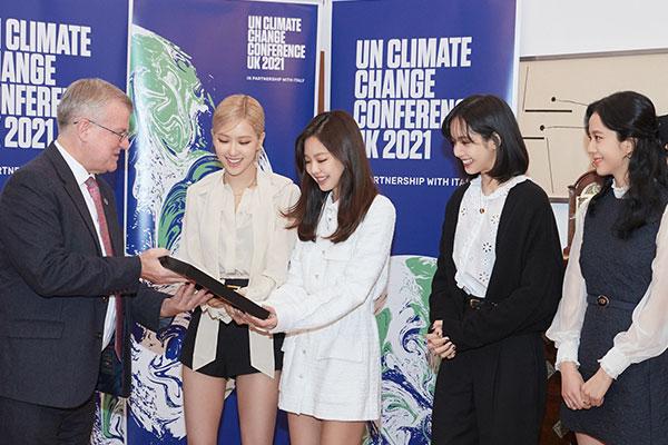 Blackpink zu Botschafter von UN-Klimakonferenz COP26 ernannt