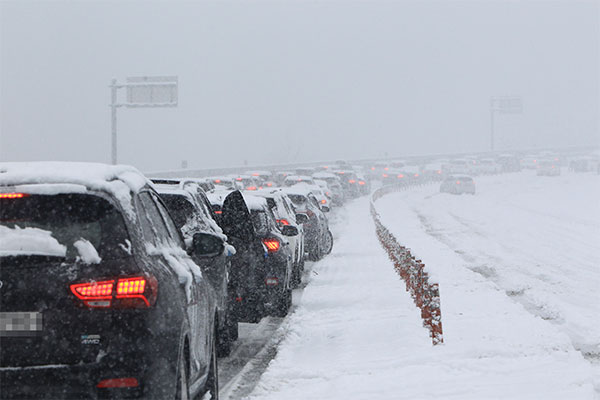 Six régions de la province de Gangwon en alerte neige