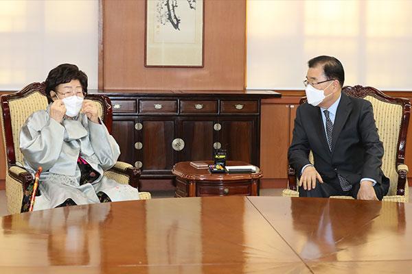 Wianbu : Lee Yong-soo demande à Chung Eui-yong de saisir la CIJ contre Tokyo