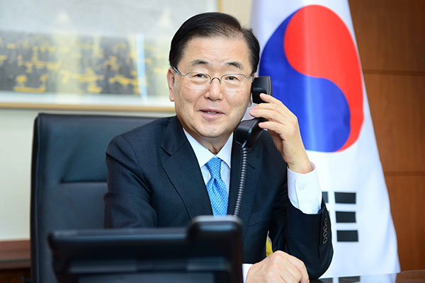 雅诗-韩外长同欧盟和以色列外交领导人就应对新冠疫情等进行电话交谈