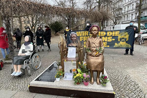 ドイツの国立博物館で平和の少女像を展示