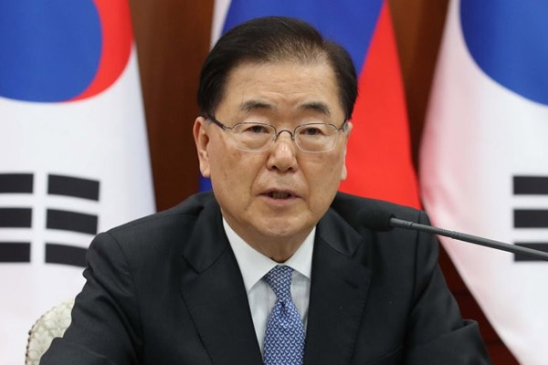 FM Chung: S. Korea, US in Talks about Vaccine Swap