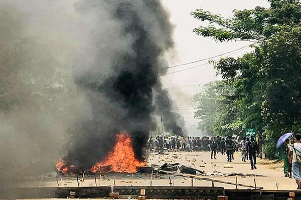 缅甸面临内战危机 韩大使馆提醒韩侨删除示威视频