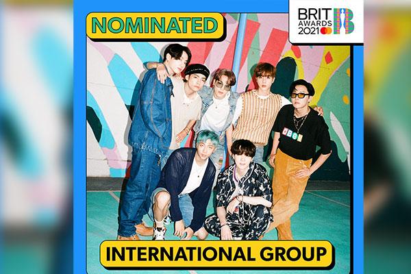 BTS 英音楽賞「ブリット・アワード」に韓国歌手初のノミネート