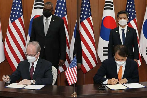 S. Korea, US Formally Sign Defense Cost-Sharing Deal