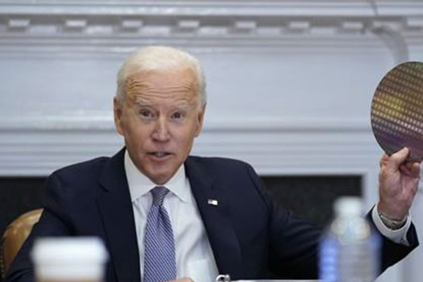Biden Stresses Investment in Chip Sector to Ease Shortage, Propel US Forward