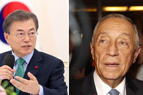 الرئيسان الكوري والبرتغالي يتبادلان التهنئة بمناسبة الذكرى الـ60 على إقامة العلاقات