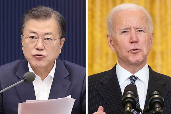 Moon Urges Biden to 'Become Historic President' and Engage North Korea