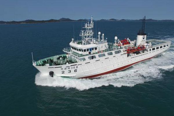 韩中在西海暂定措施水域联合巡逻取缔非法捕捞渔船