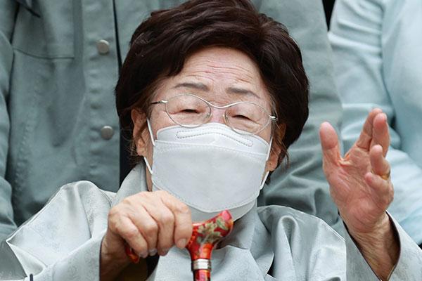 慰安婦被害者の李容洙さん「CATに提起を」 文大統領に求める