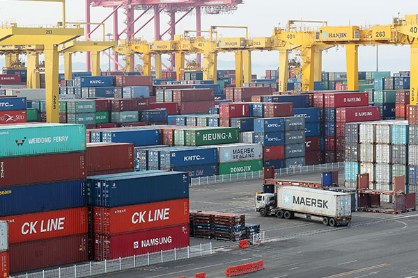 41.1 % زيادة في حجم الصادرات الكورية في أبريل الماضي