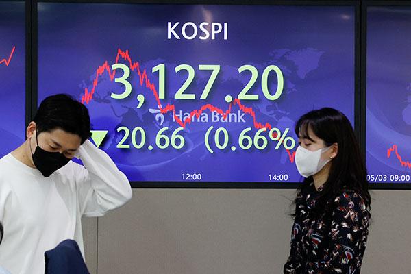 Chỉ số KOSPI giảm mạnh trong ngày đầu tiên nối lại giao dịch bán khống