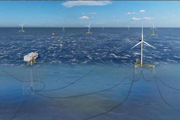 Правительство РК поддержит проект плавучей ветряной электростанции