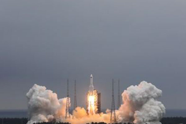 Debris of Chinese Rocket Falls over Indian Ocean