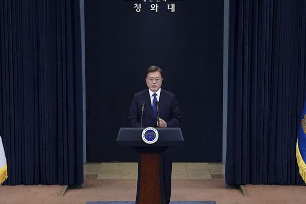 Präsident Moon verspricht Engagement für unumkehrbaren Frieden