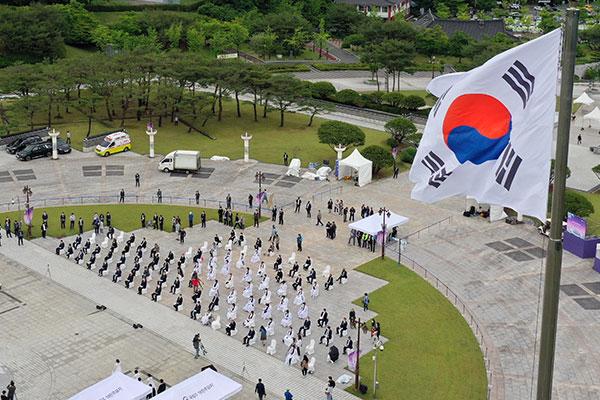 مراسم احتفالية بمناسبة الذكرى الحادية والأربعين على انتفاضة كوانغ جو