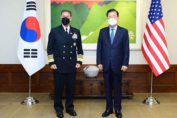 Ngoại trưởng Hàn Quốc tiếp tân Tư lệnh Ấn Độ-Thái Bình Dương Mỹ