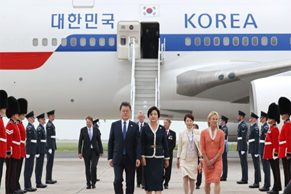 President Moon in Britain to Attend G7 Summit