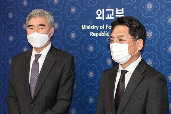 韩美21日在首尔举行北核问题首席代表磋商