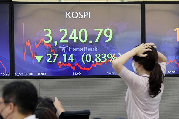 KOSPI Ditutup Turun 0,83 % pada 21 Juni