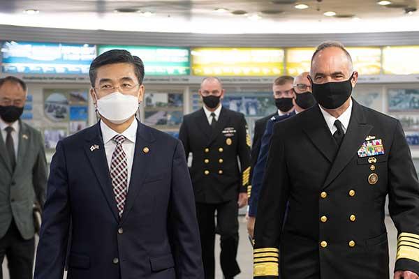 Bộ trưởng Quốc phòng Hàn Quốc họp với Tư lệnh Bộ chỉ huy chiến lược Mỹ