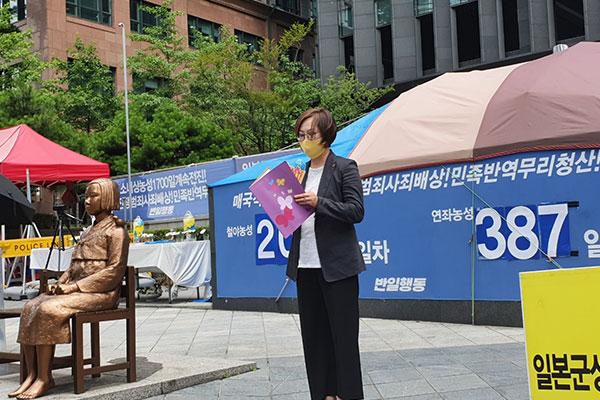 韩举行第1500次周三集会 慰安妇受害者要求直到日本道歉继续举行集会