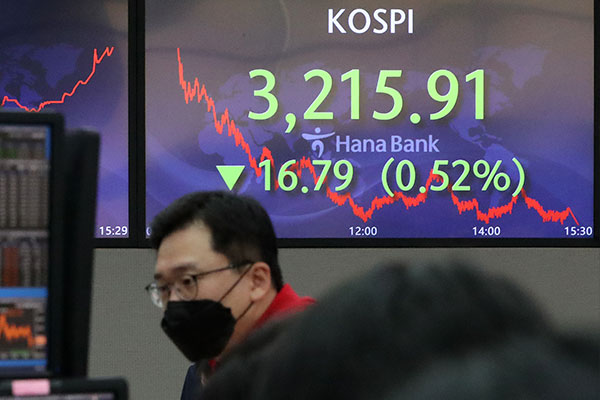 KOSPI Ends Wednesday Down 0.52%