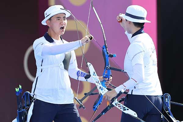 Olympia in Tokio: Erstes Gold für Südkorea im Bogenschießen Mixed-Wettbewerb