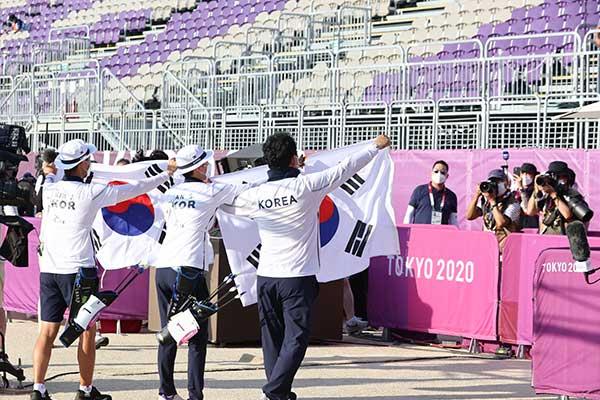 韩国队夺得东京奥运会首枚金牌