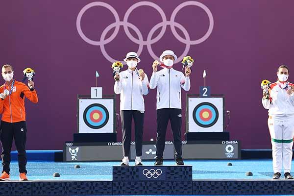 Nội dung hỗn hợp nam nữ môn bắn cung mang về huy chương vàng Olympic đầu tiên cho Hàn Quốc