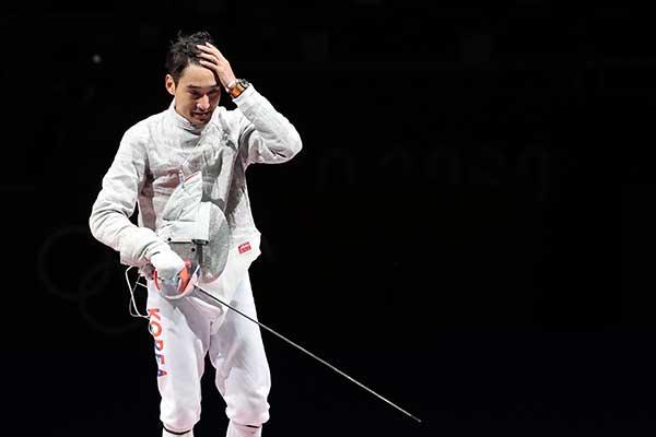 Tay kiếm Kim Jung-hwan đạt huy chương đồng cá nhân môn kiếm chém nam