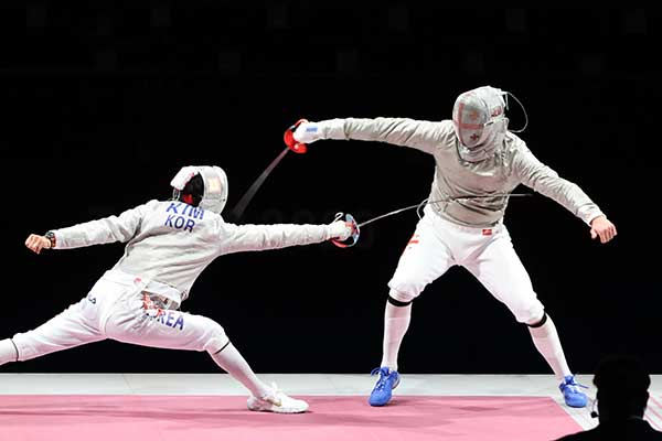 Kim Jung Hwan logra su tercera medalla olímpica en esgrima