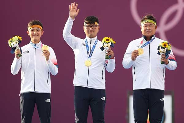 Tim Panahan Beregu Putra Korsel Raih Medali Emas di Olimpiade Tokyo