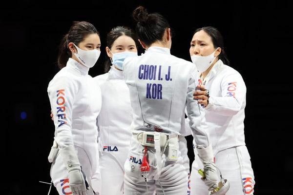 S. Korea Wins Bronze in Women's Team Sabre