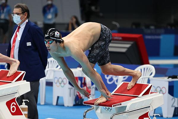 東京五輪 競泳男子のファン・ソヌ 200メートル自由型決勝で7位