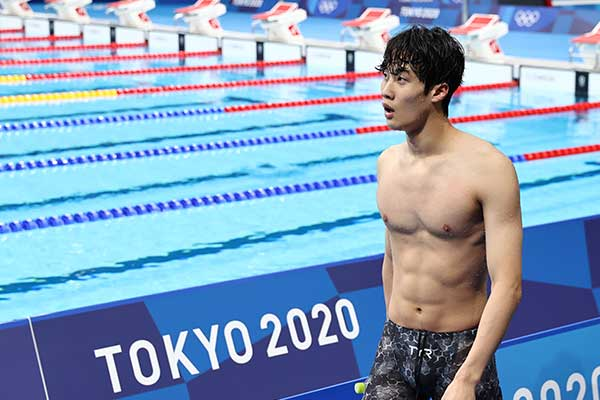 Hwang Sun-woo Finishes 5th in Men's 100m Freestyle at Tokyo Olympics