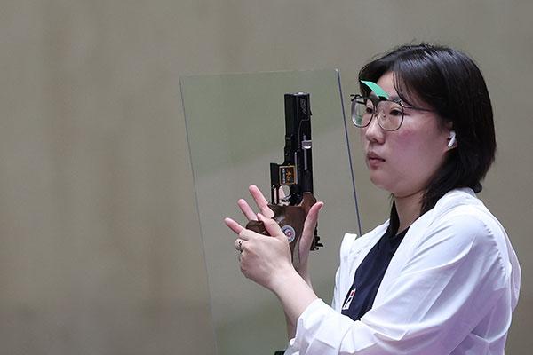 Kim Min-jung giành huy chương bạc Thế vận hội Tokyo nội dung 25m súng ngắn nữ