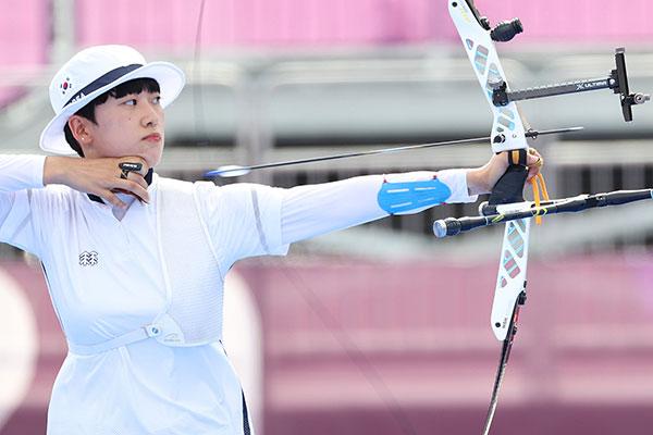 Bogenschützin An San gewinnt Einzelgold und wird dreifache Goldmedaillenträgerin in Tokio