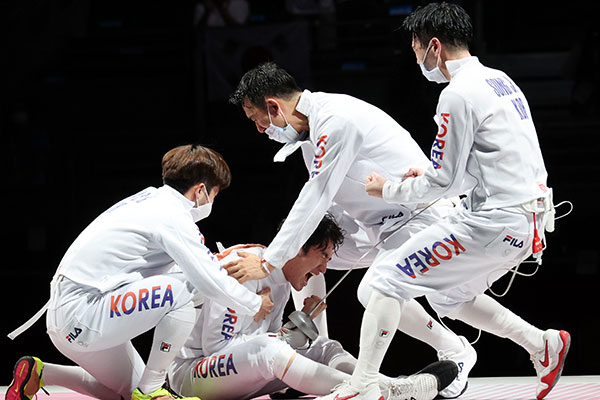 S. Korean Men's Epee Team Wins Bronze at Tokyo Olympics