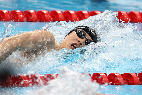 Schwimmer Hwang beim nationalen Sportfest zum besten Spieler gewählt