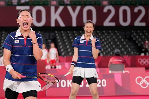 Olympia in Tokio: Beide südkoreanische Teams kämpfen im Badminton-Frauendoppel um Bronze