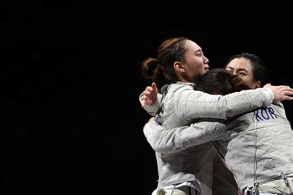 Đội tuyển kiếm chém đồng đội nữ Hàn Quốc giành huy chương đồng Thế vận hội Tokyo