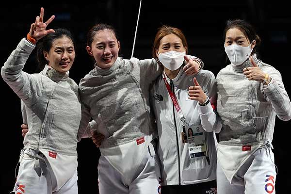 Timnas Anggar Putri Korsel Raih Medali Perunggu di Nomor Sabel Beregu