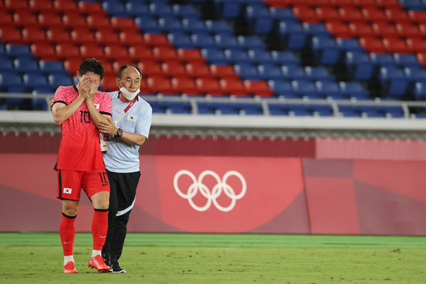 東京五輪サッカー 韓国、準決勝進出ならず メキシコに完敗