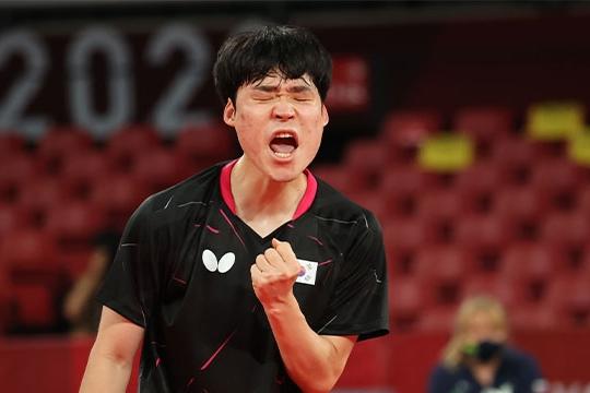 S. Korea's Table Tennis Men's Team Advance to Quarterfinals