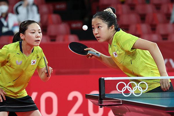 S. Korean Women's Table Tennis Team Advances to Quarterfinals at Olympics
