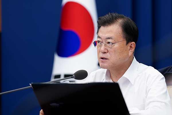 Presiden Moon Meminta Seluruh Kementerian Upayakan Penstabilan Situasi COVID-19