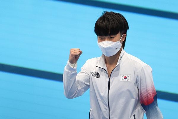 韓国のウ・ハラム 3メートル板飛び込みで決勝進出