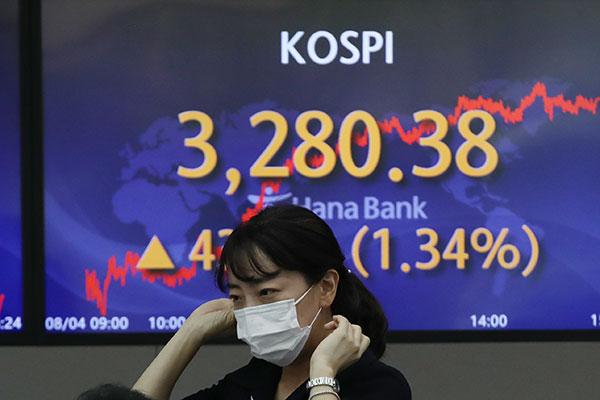 KOSPI Ditutup Naik 1,34% pada 4 Agustus